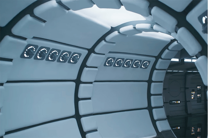 An interior shot of the millennium falcon