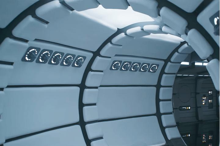 An interior shot of the millennium falcon