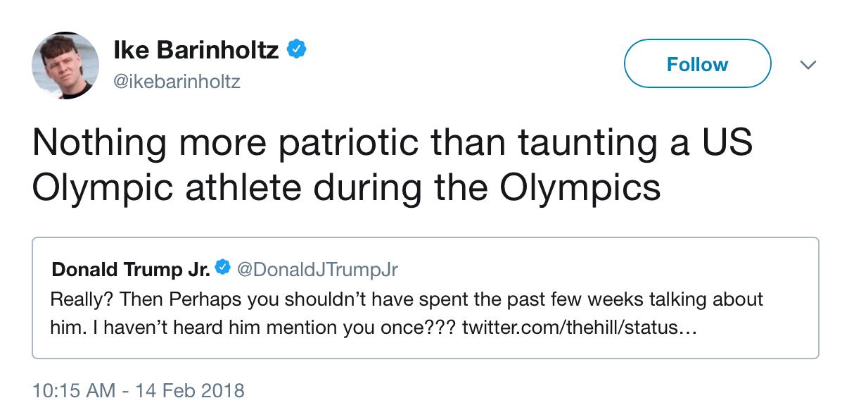 A screenshot of Ike Barinholtz's twitter