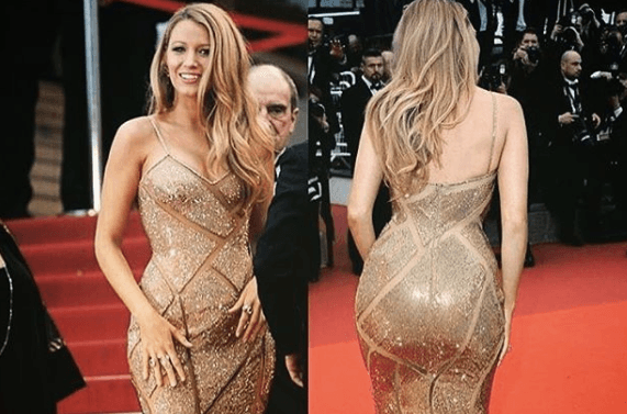 Blake Lively on the red carpet.