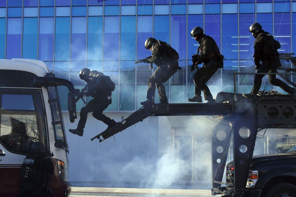 Olympics security team participates in drill