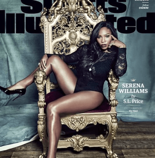 Serena William's Sports Illustrated cover.