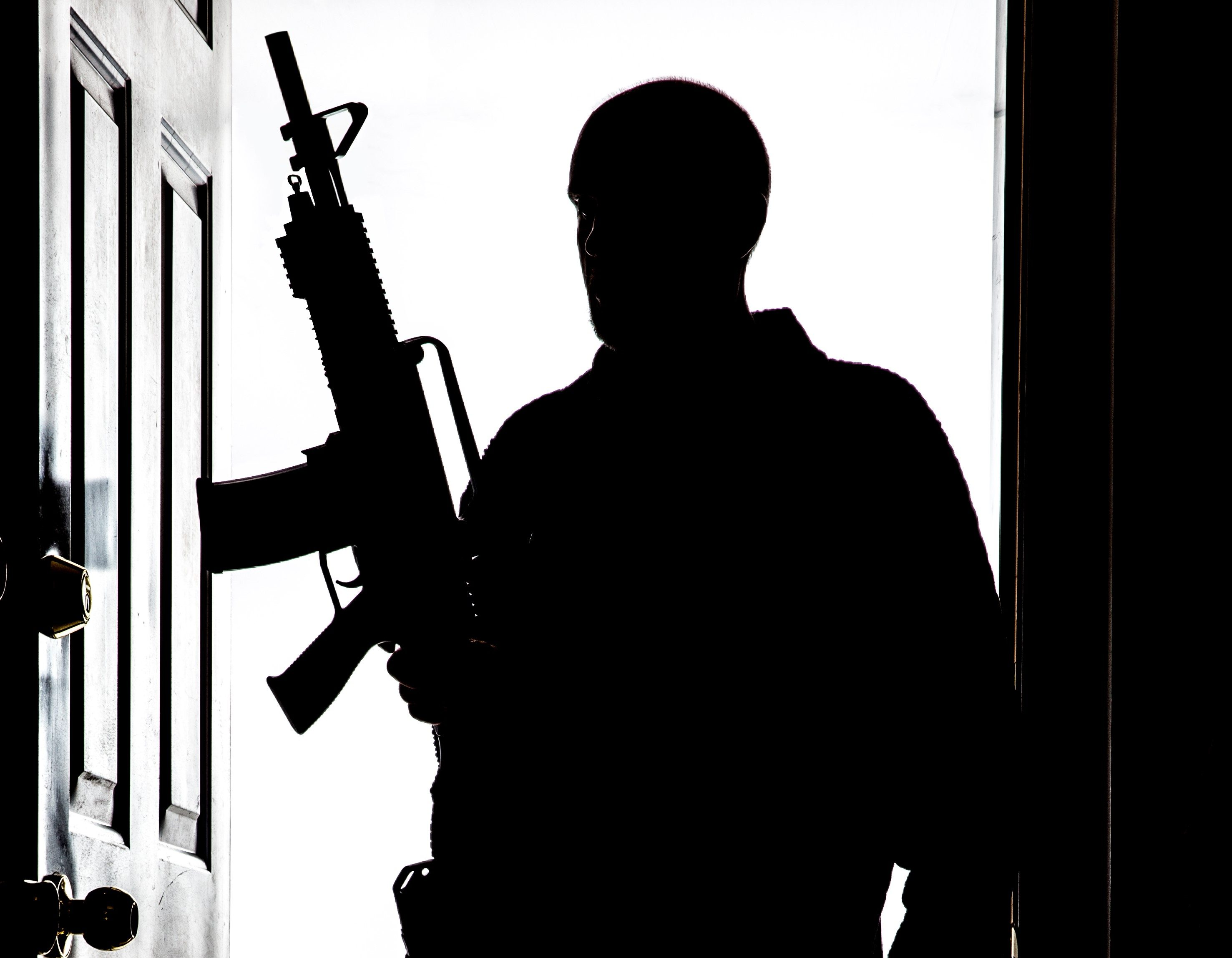 Male Shooter with an AR15 gun