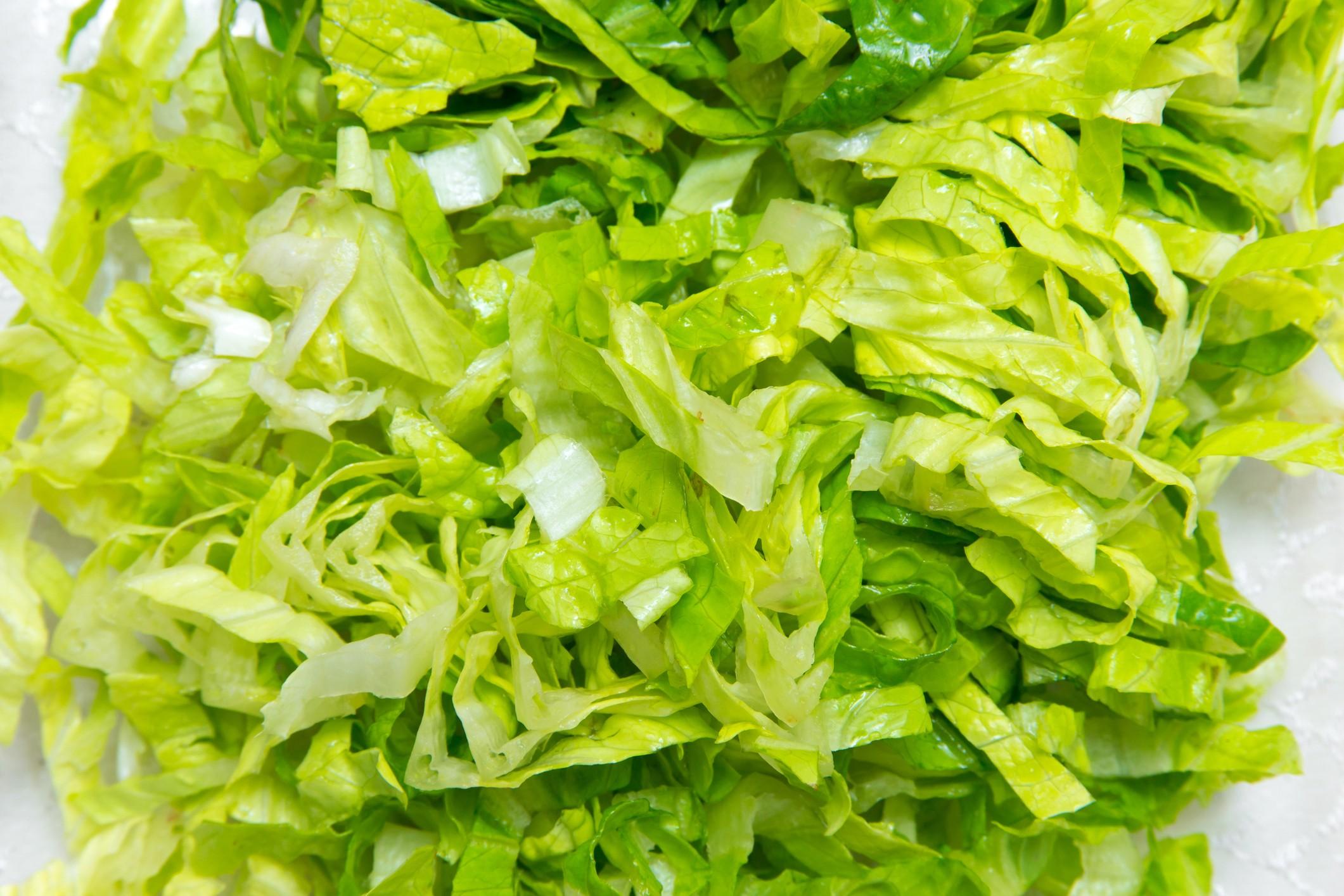Shredded lettuce salad