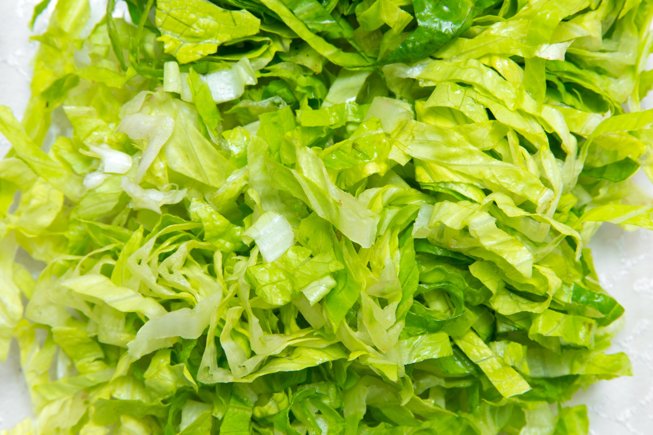Shredded lettuce salad