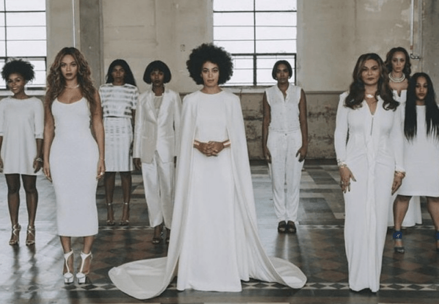 Solange and her family on her wedding day.