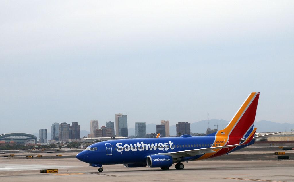 Southwest airline plane