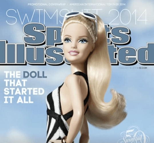 Barbie on the cover of 'Sports Illustrated'.