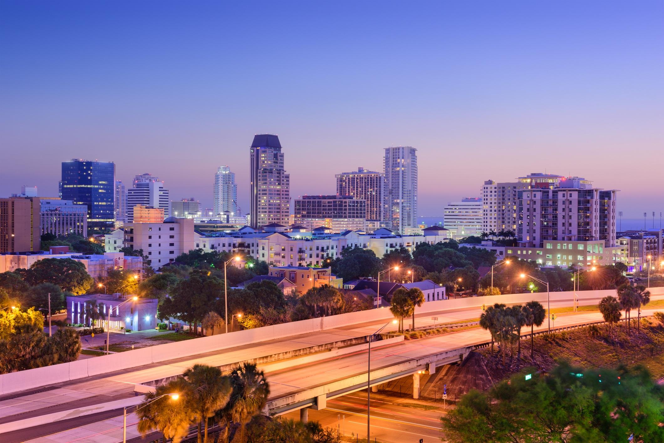 St. Petersburg, Florida, USA downtown skyline.