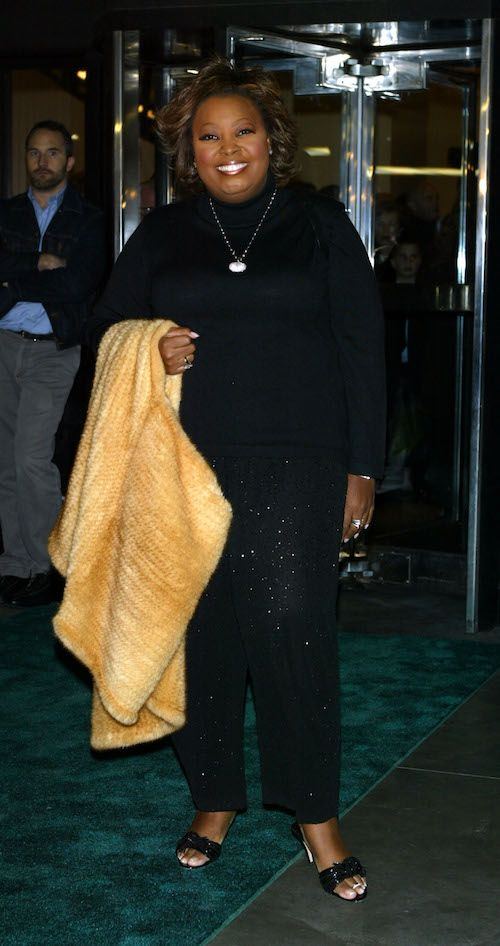 Star Jones wearing a black outfit at an event.