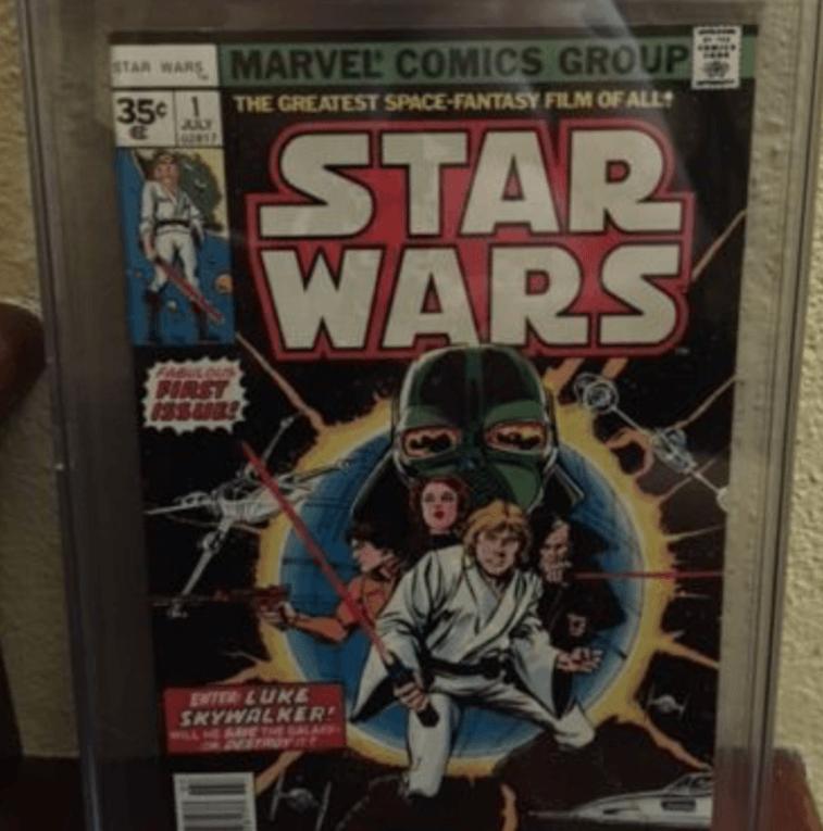 Star Wars comic book.