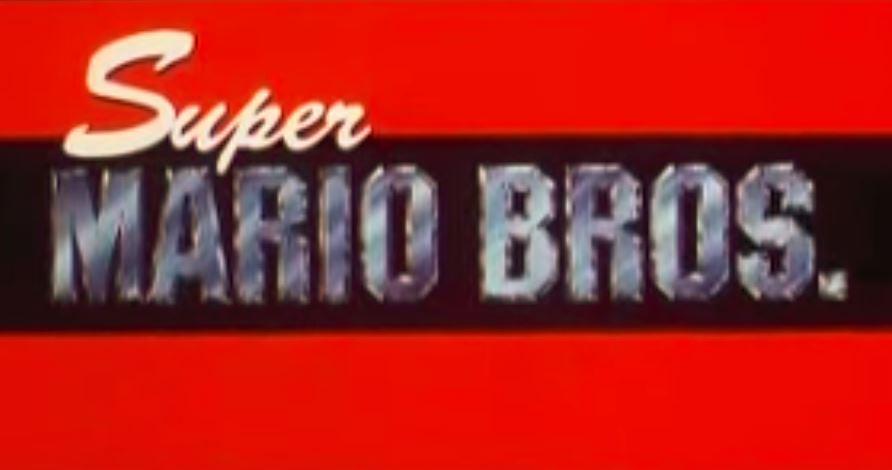 Super Mario Bros. logo.