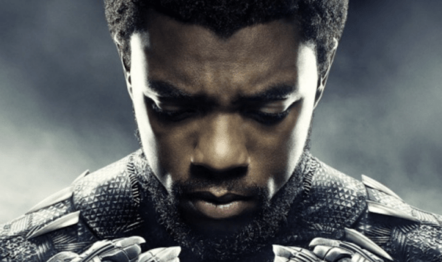 T'Challa looking downward.