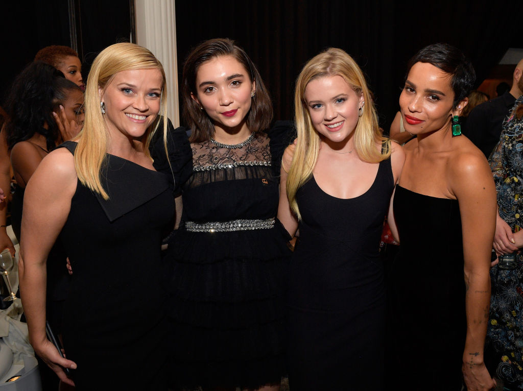 Actor Reese Witherspoon, actor Rowan Blanchard, Ava Elizabeth Phillippe, and actor/singer Zoe Kravitz