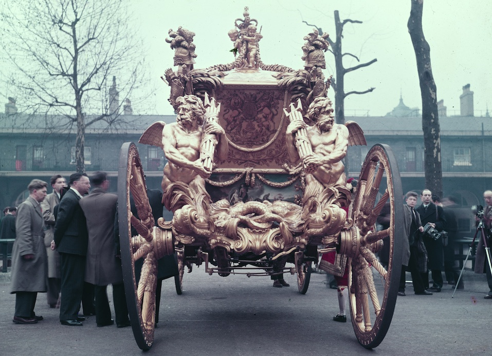 The Gold State Coach used for Queen Elizabeth II's coronation, 1953