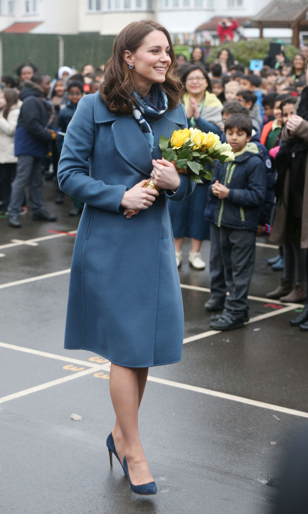 Catherine, Duchess of Cambridge meets children, teachers and other stakeholders