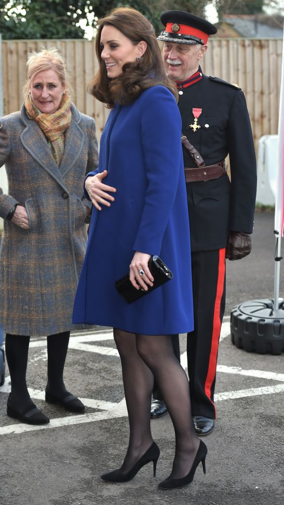 Catherine, Duchess of Cambridge arrives to open an Action on Addiction Community Treatment Centre