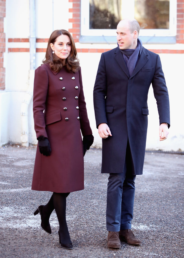 Catherine, Duchess of Cambridge and Prince William, Duke of Cambridge depart Hartvig Nissen School, the location for the successful Norwegian television programme