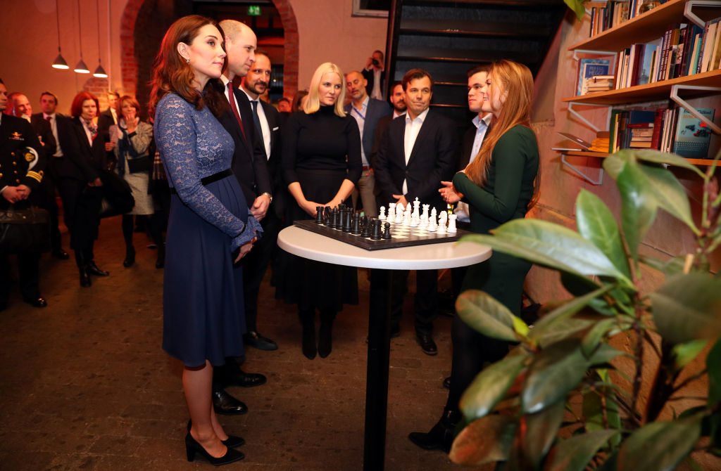 Prince William, Duke of Cambridge and Catherine, Duchess of Cambridge visit 'MESH', a work-space for start-up tech companies on day 3