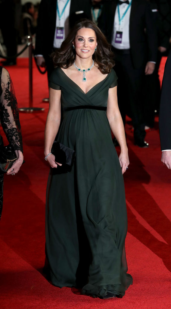 Catherine, Duchess of Cambridge attends the EE British Academy Film Awards