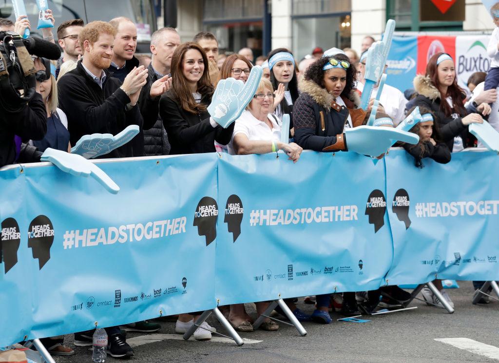 The Duke & the Duchess Of Cambridge And Prince Harry Attend The Virgin Money London Marathon