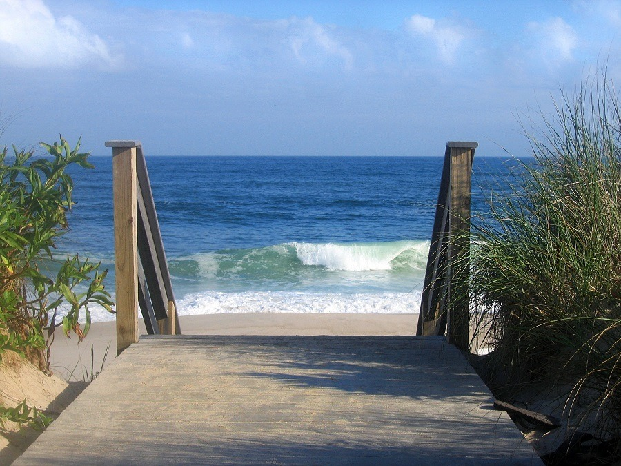 stairs to the ocean