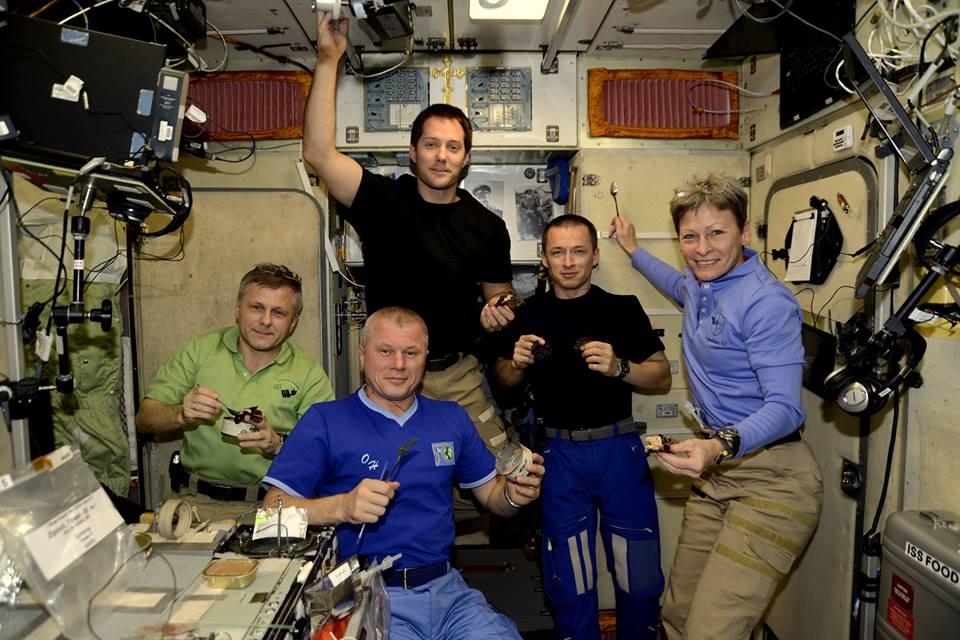 Thomas Pesquet astronauts food