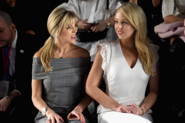 Tiffany and Marla Trump at a fashion show in New York City.