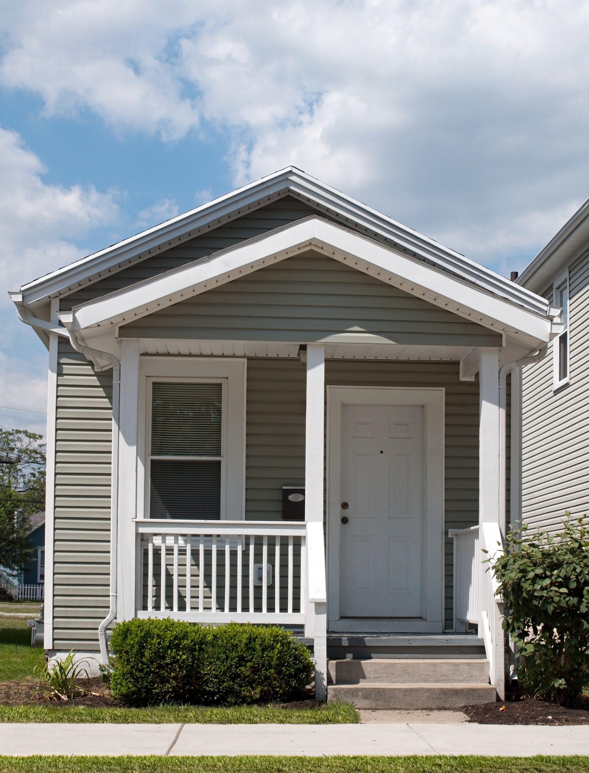 Gray tiny home
