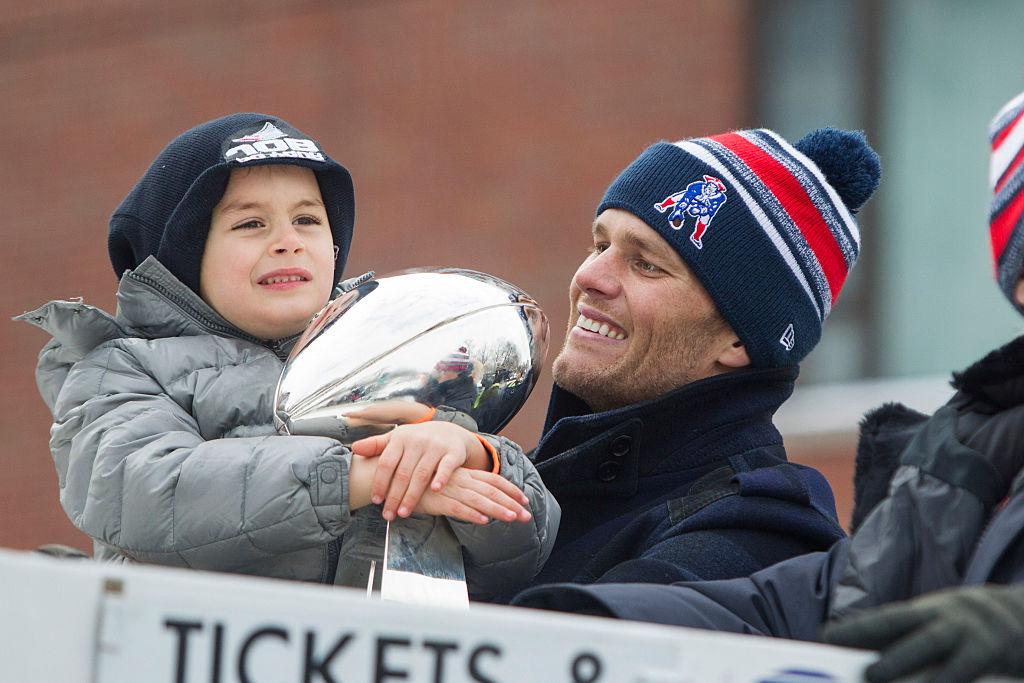 Tom Brady with son