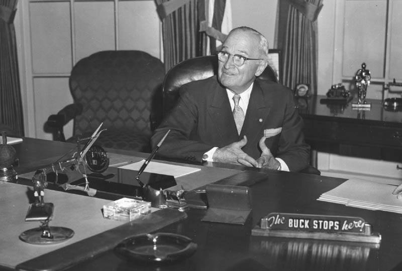 Harry Truman buck Stops here