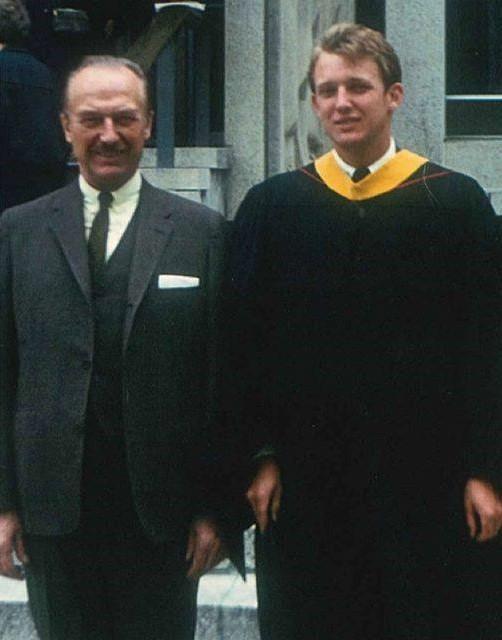 Trump graduating from business school