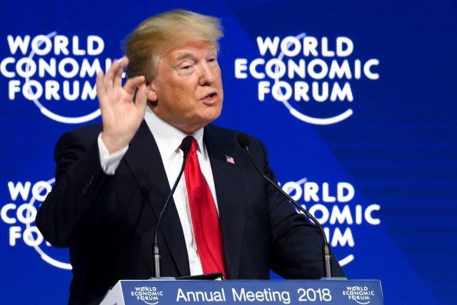 Donald Trump at World Economic Forum.