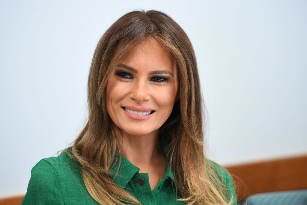 US First Lady Melania Trump attends a roundtbale