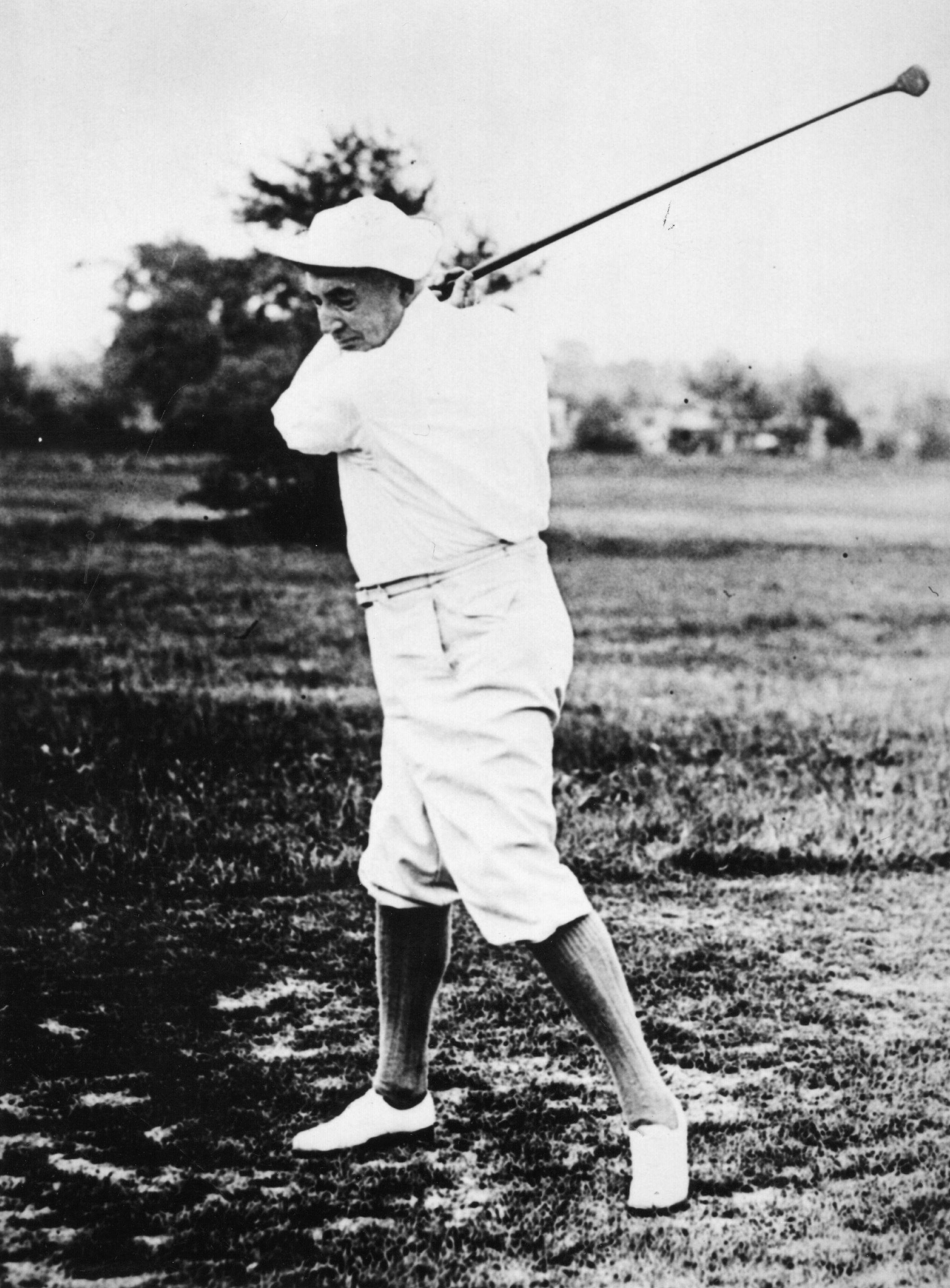 Warren Harding golfing