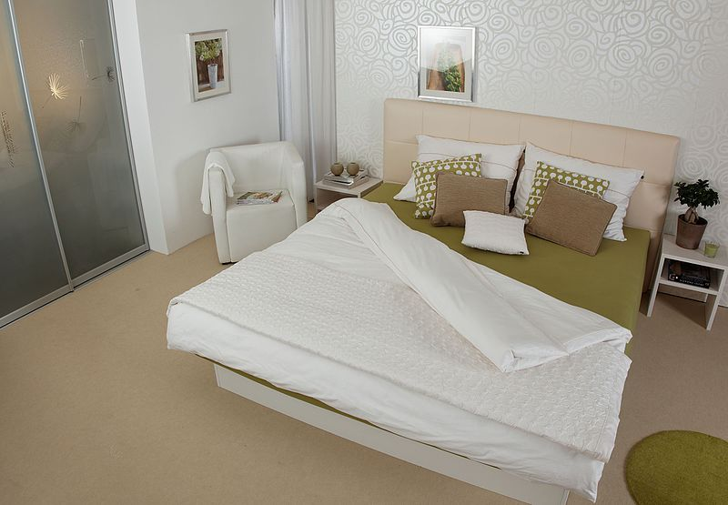 Modern Waterbed in bedroom