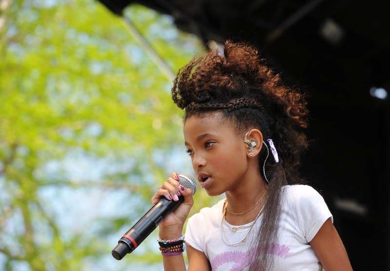 Willow Smith, the daughter of actors Will Smith and Jada Pinkett Smith, performs at the annual Easter egg roll April 25, 2011 on the South Lawn of the White House in Washington, DC.