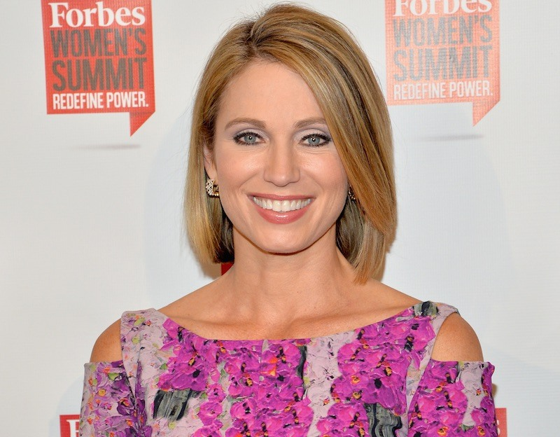 Good Morning America news anchor Amy Robach attends the 2016 Forbes Women's Summit at Pier Sixty at Chelsea Piers on May 12, 2016 in New York City. (Photo by Slaven Vlasic/Getty Images)