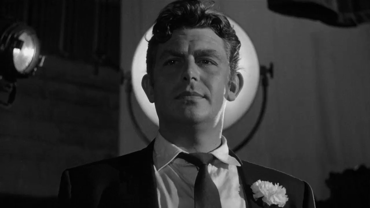 """Andy Griffith as Larry """"Lonesome"""" Rhodes in A Face in the Crowd"""