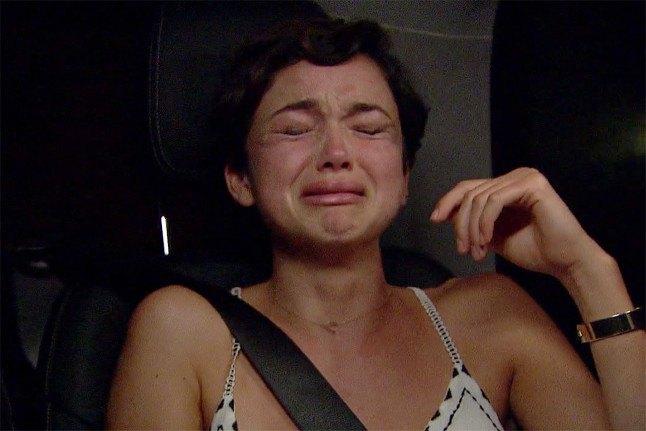 Bekah Martinez crying on The Bachelor