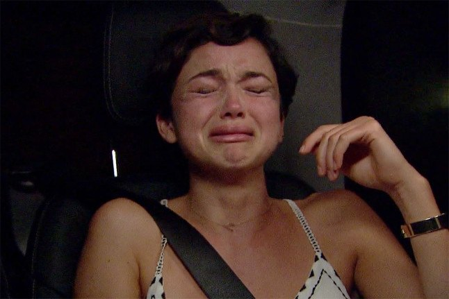 Bekah Martinez crying on The Bachelor