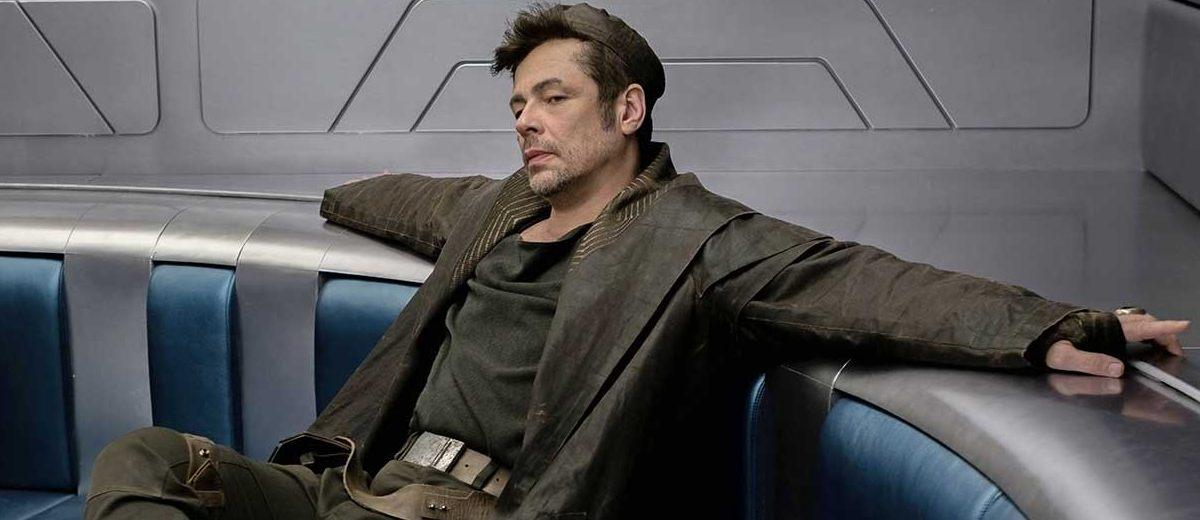 Benicio del Toro as DJ in Star Wars: The Last Jedi