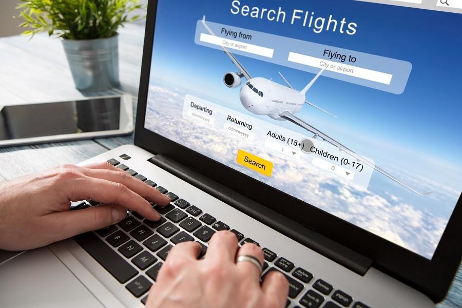 booking flight travel traveler search ticket reservation
