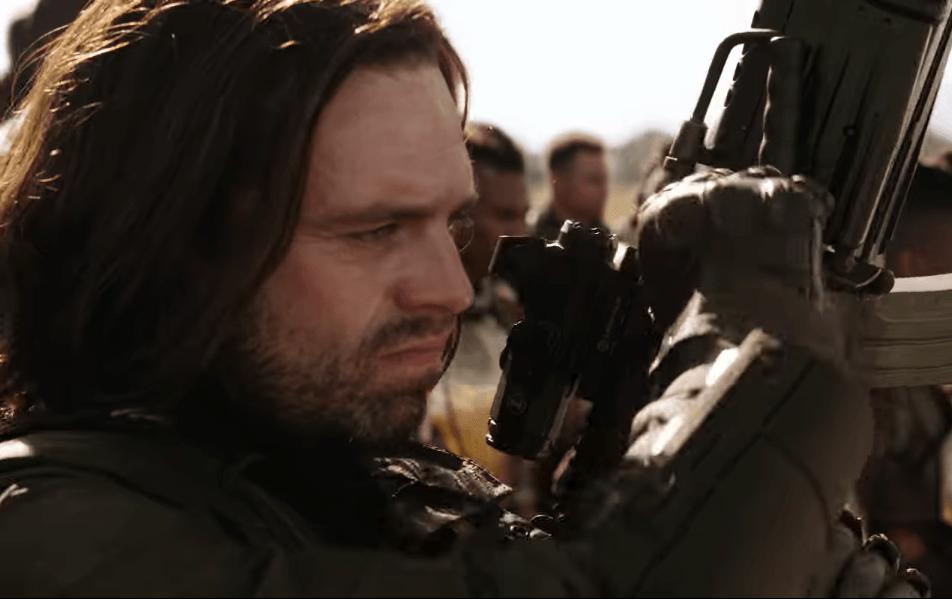 Bucky Barnes in the trailer for Avengers: Infinity War