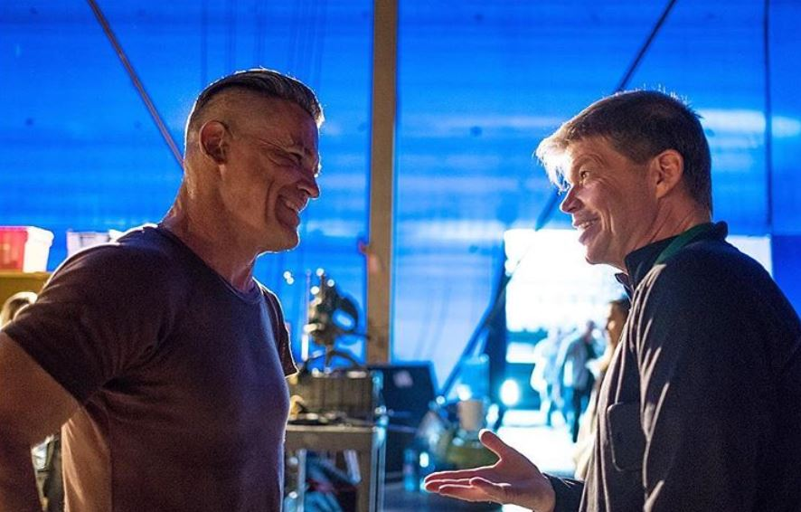 Cable (Josh Brolin) and Rob Liefeld