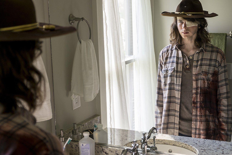 """Carl in The Walking Dead Season 8 episode """"Honor"""""""