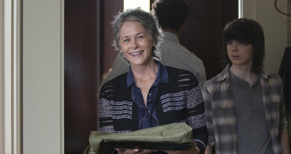 Carol and Carl on The Walking Dead
