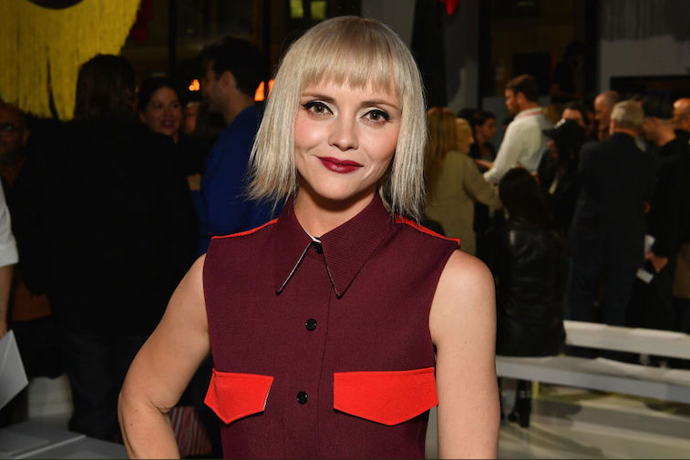 Actress Christina Ricci attends the Calvin Klein Collection fashion show during New York Fashion Week on September 7, 2017 in New York City.