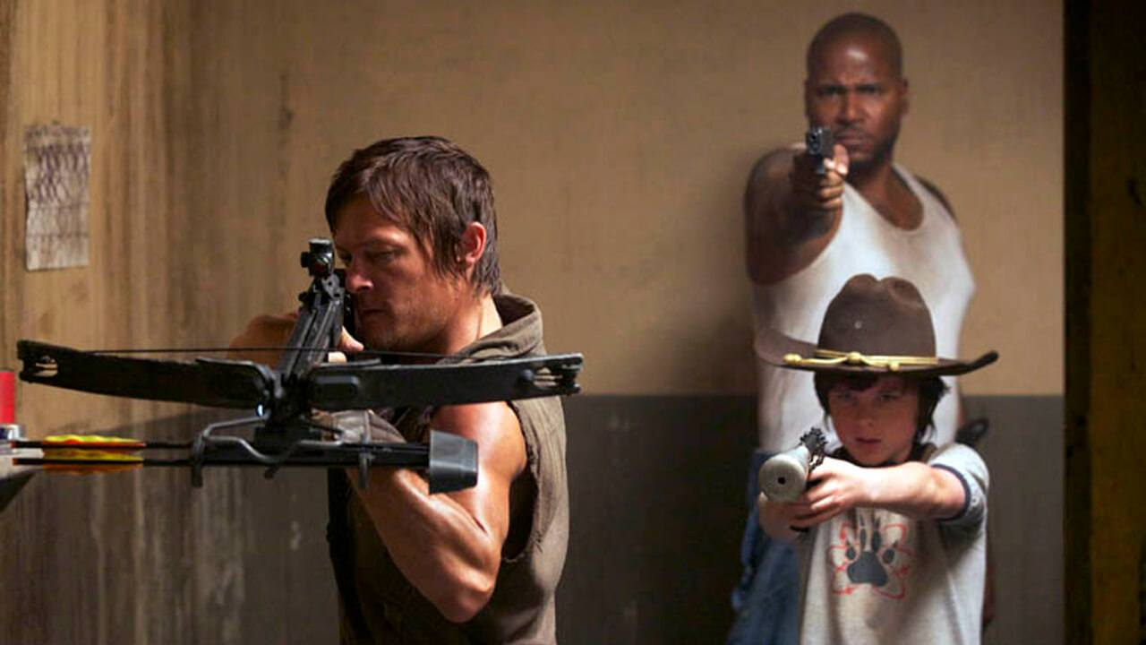 Daryl and Carl on The Walking Dead