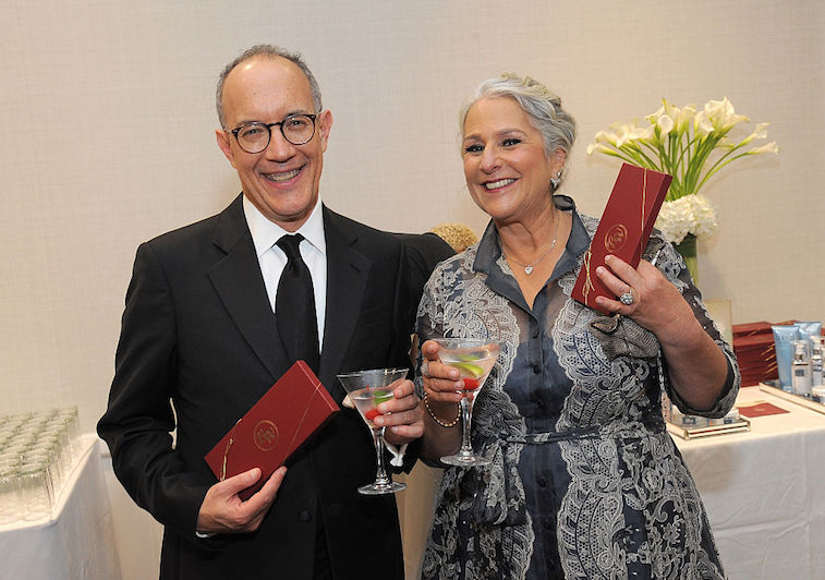 Writers/producers David Crane and Marta Kauffman attend the Backstage Creations Celebrity Retreat at The 2016 Writers Guild West Awards at the Hyatt Regency Century Plaza on February 13, 2016 in Century City, California.